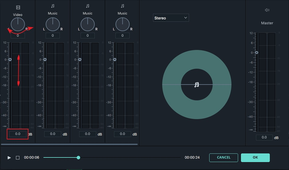 Filmora for Mac  Audio Mixer