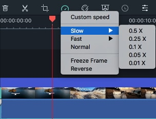 Filmora 9 for Mac change video speed