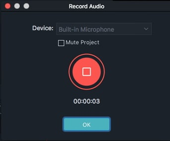 Filmora 9Mac record voiceover
