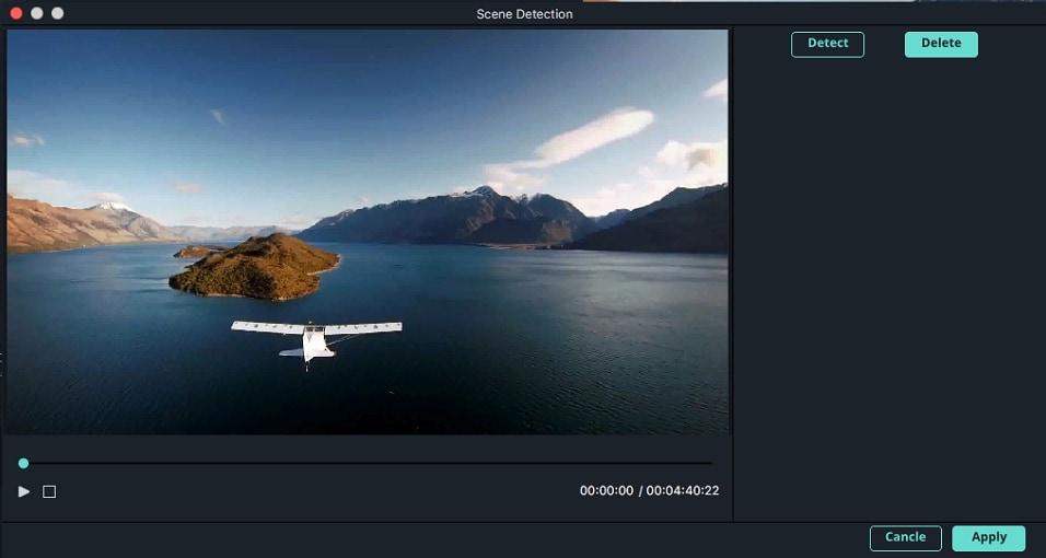 Filmora Mac Split video