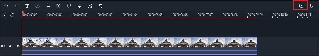 Filmora Render Timeline