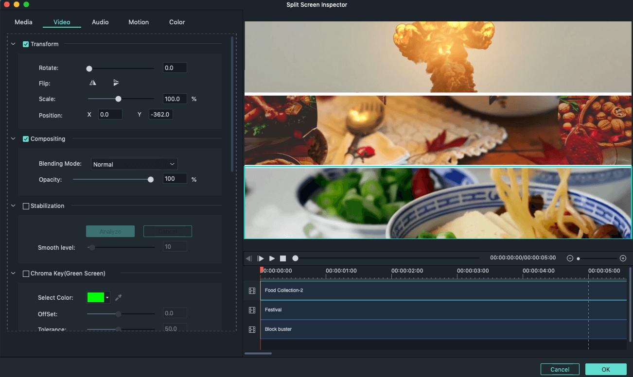 Animer un écran partagé dans Filmora9 pour Mac