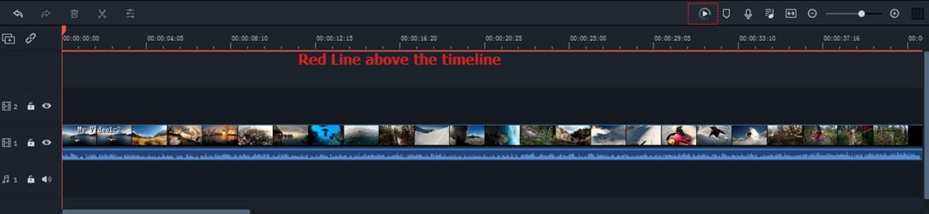 Filmora 9 Render Timeline