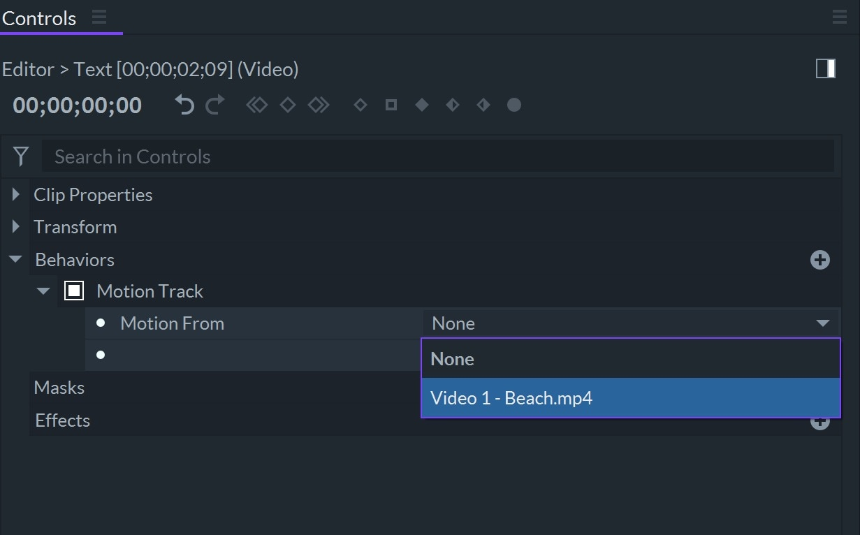 FilmoraPro Motion Track