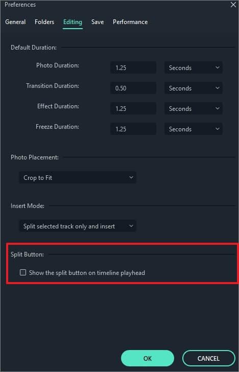 hide split icon