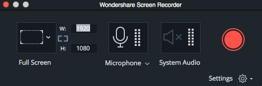 تسجيل شاشة mac في Filmora9