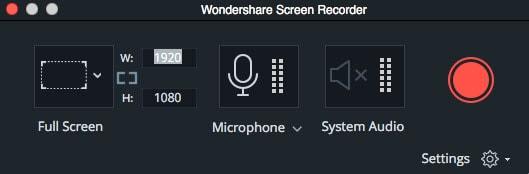 record mac screen in Filmora9