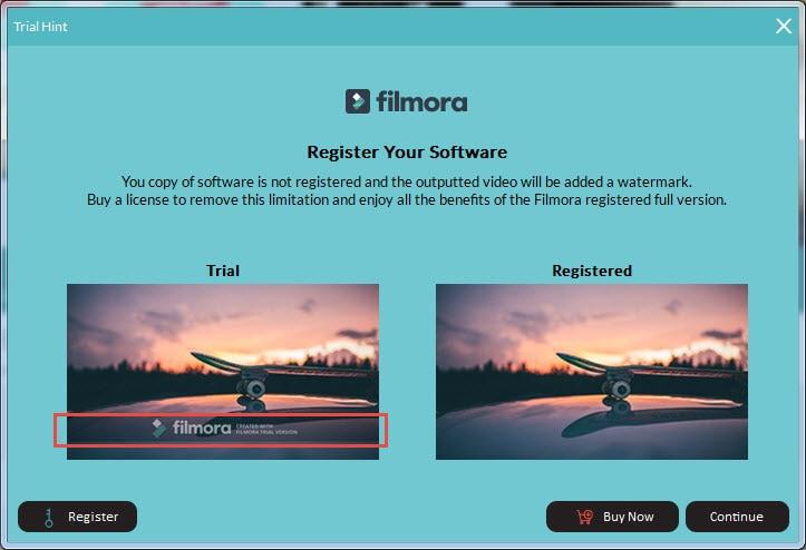 how to remove watermark from wondershare filmora