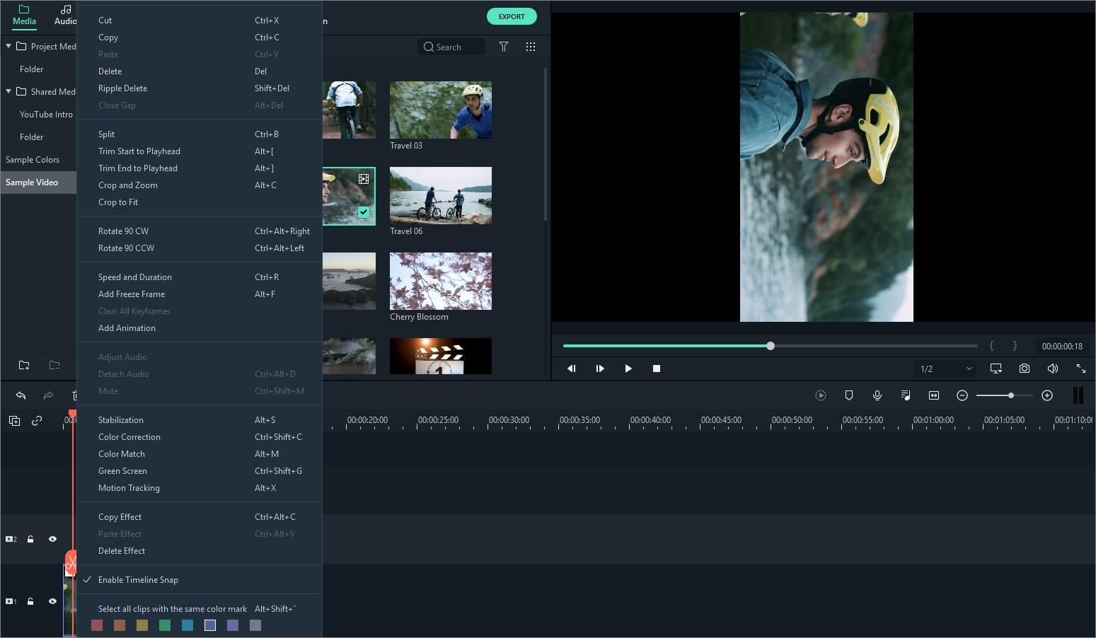 ruota video - Filmora9