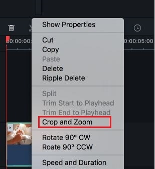select pan zoom in filmora version 9 mac