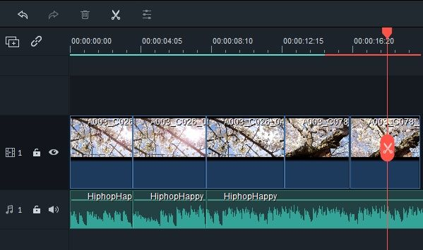 Filmora 9 Split Video Manually