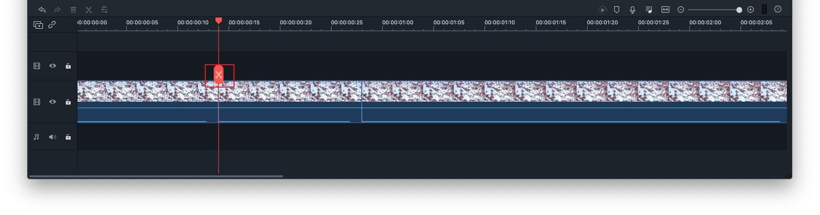 Filmora9 for Mac Split video on Timeline