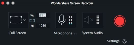 start recording wondershare filmora