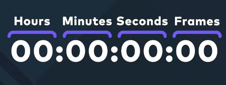filmorapro timecode