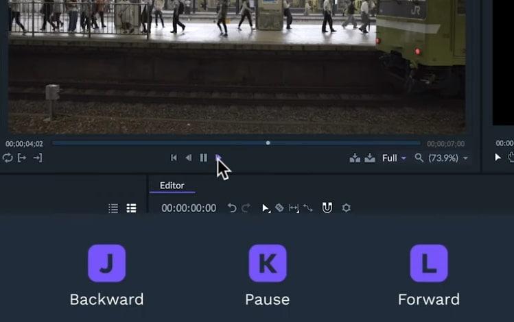 trim video shortcuts