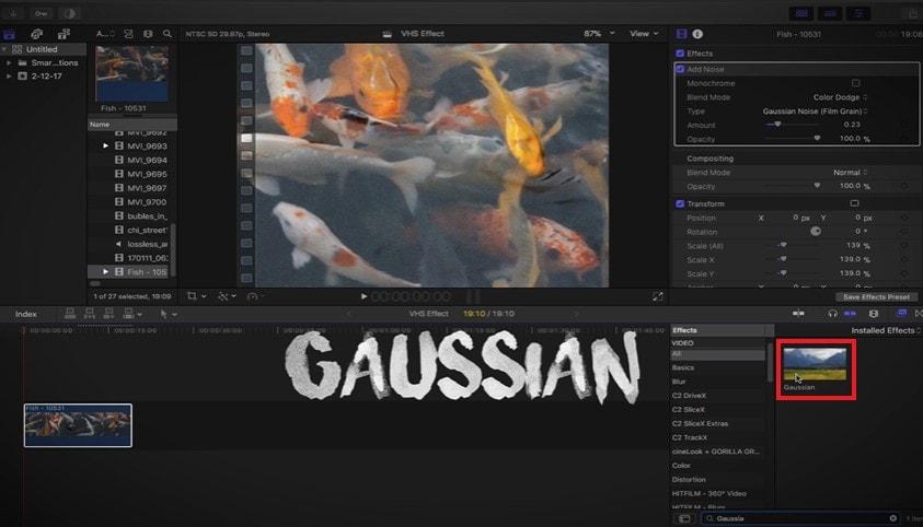 add_guassian_blur_in_final_cut_pro