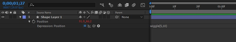 Adobe After Effects Add Wiggle