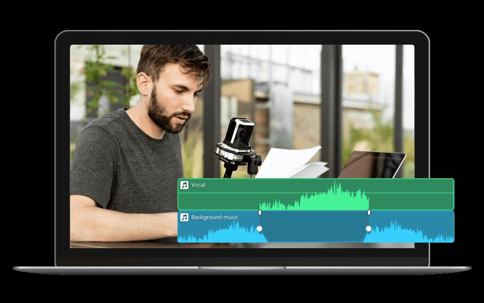 filmora audio ducking