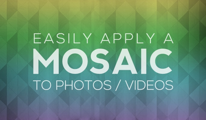 Mosaic Maker: Easily Apply a Mosaic to Photos/Videos