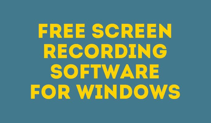 Free screen recording software for Windows