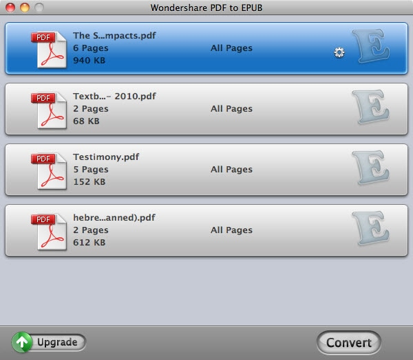 Import PDF eBooks