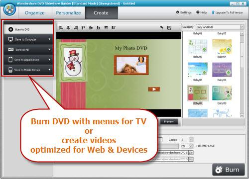 Burn Movies to DVD or Create Videos