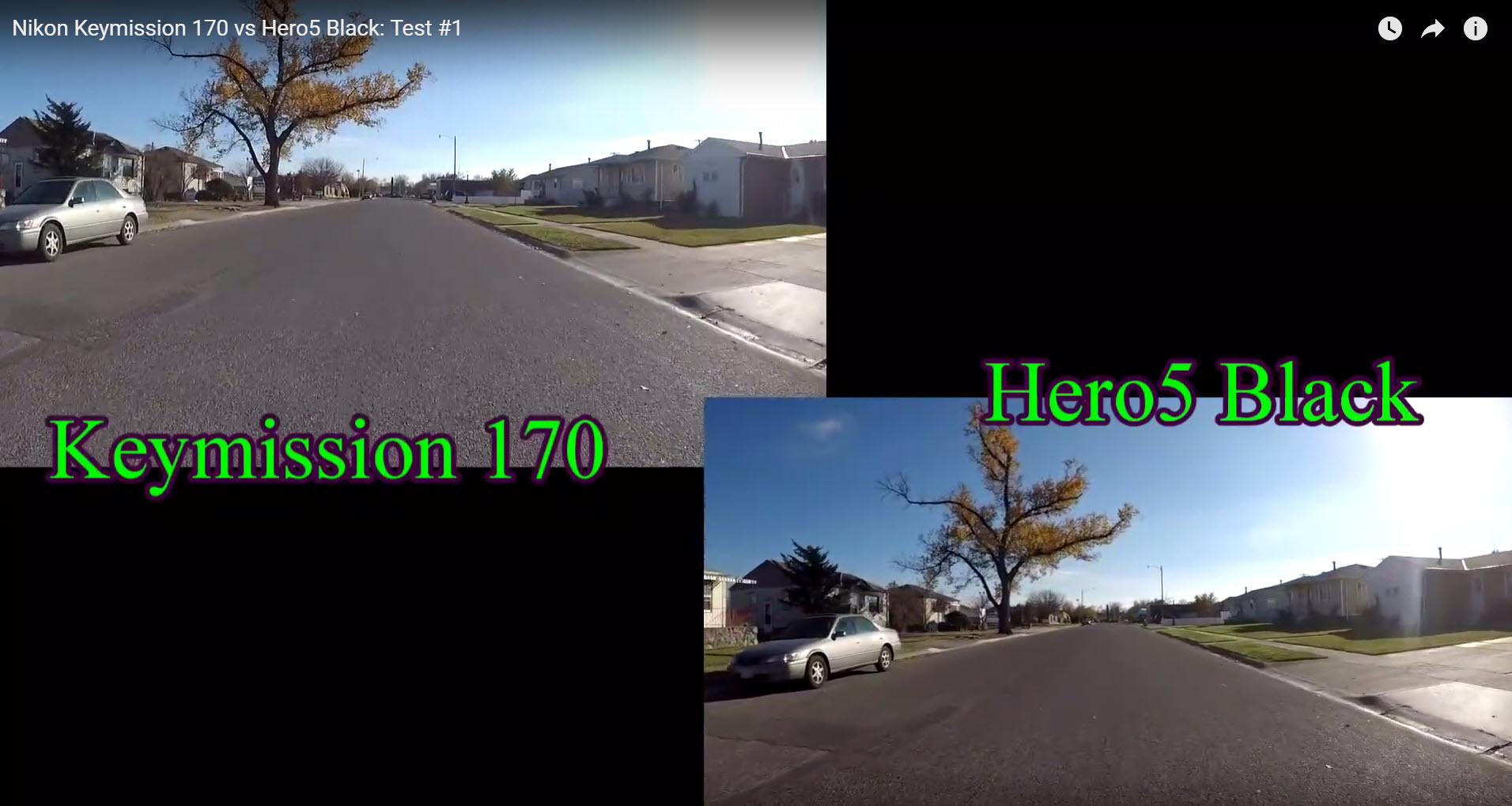 hero5 balck keymission170 test