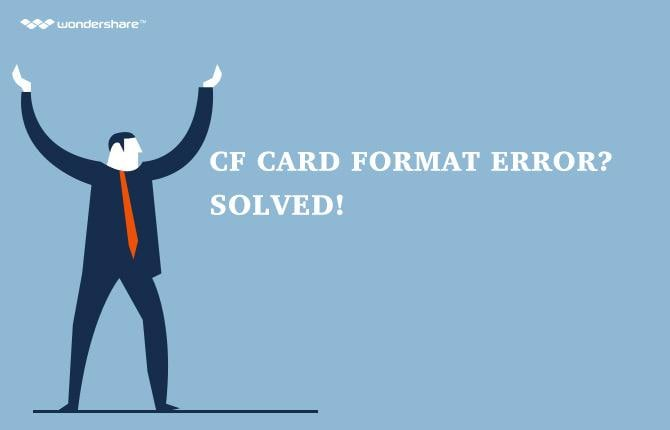 CF Card Format Error? Solved! - Recover data from CF Card Error