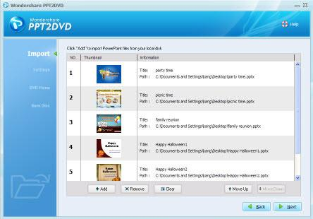Convert PowerPoint slideshow to DVD