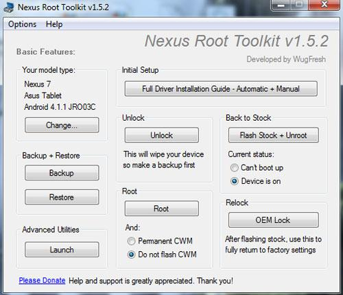 nexus 7 root toolkit download