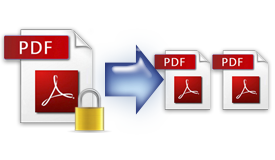Support splitting encrypted PDF files
