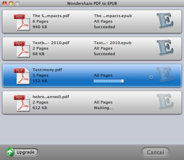 Convert PDF to EPUB on Mac