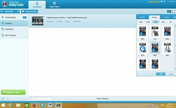online dailymotion to mp4 converter - convert the downloaded video