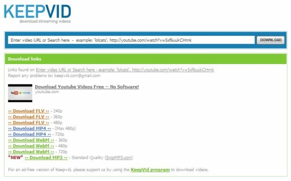 online dailymotion to mp4 converter - KeepVid