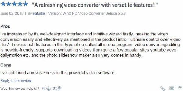 download dailymotion videos songs - WinX HD Video Converter Deluxe review 1