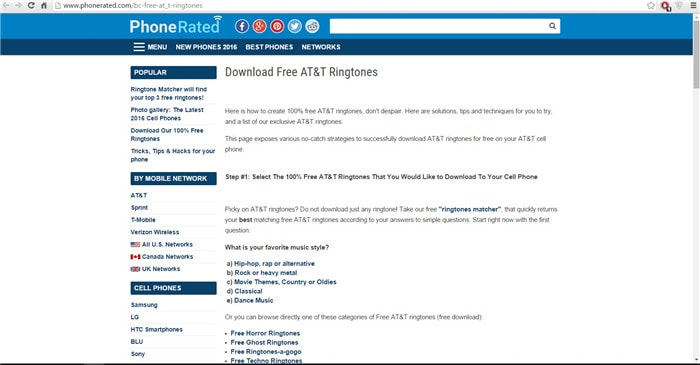 free ringtones for at&t phones