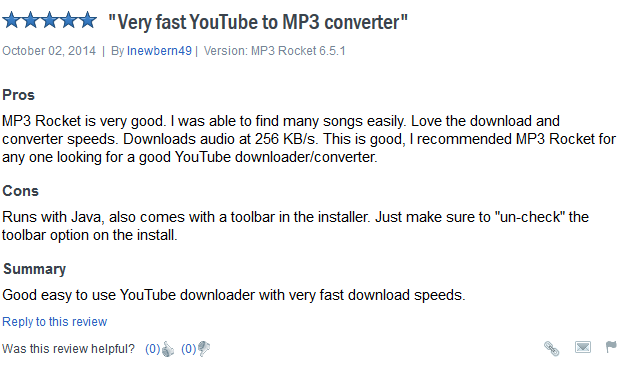 MP3 Rocket - good review 2