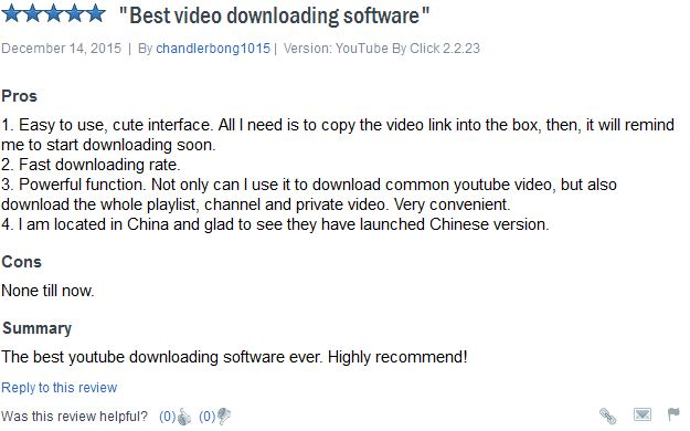 YouTube by click downloader - good review 2