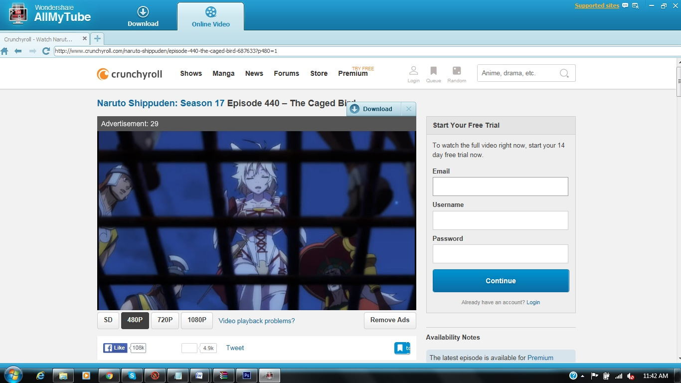 download Crunchyroll videos