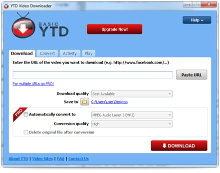 facebook video downloader - YTD