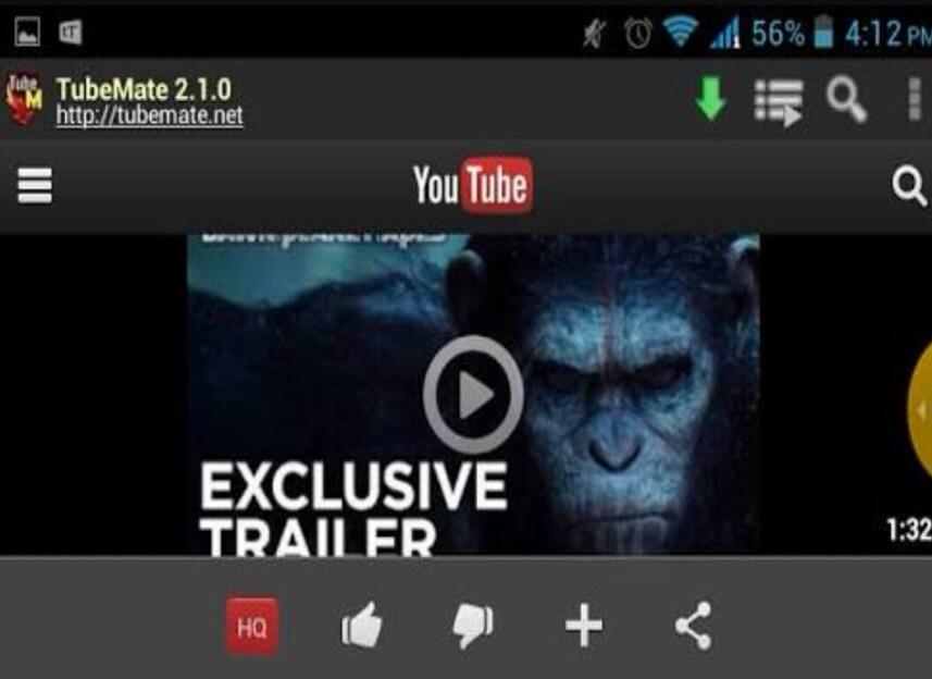 YouTube URL downloader - Tubemate