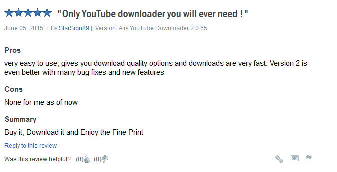 YouTube URL downloader - airy good review
