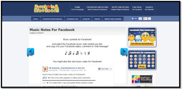 Two Easy Solutions To Post Music Notes On Facebook Status