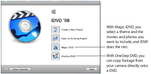 iDVD tutorial How to use iDVDs