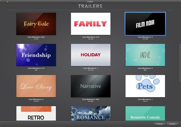 to create iMovie trailers on Mac