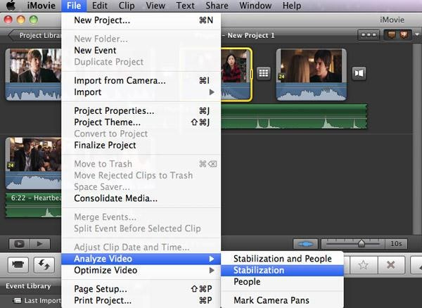 use effect in imovie for os