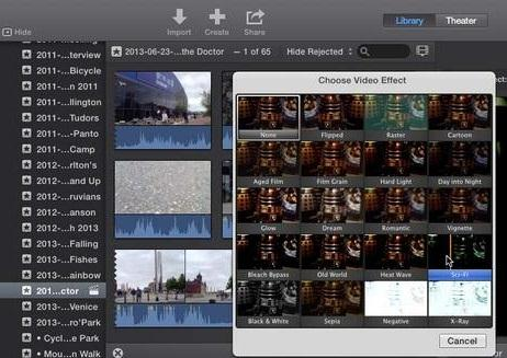 iMovie 11 Special Effects