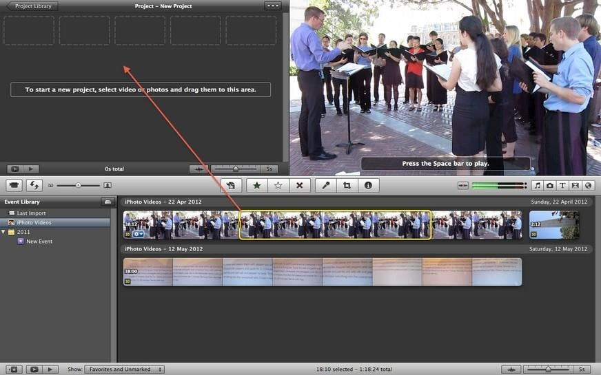 Add video effects in iMovie