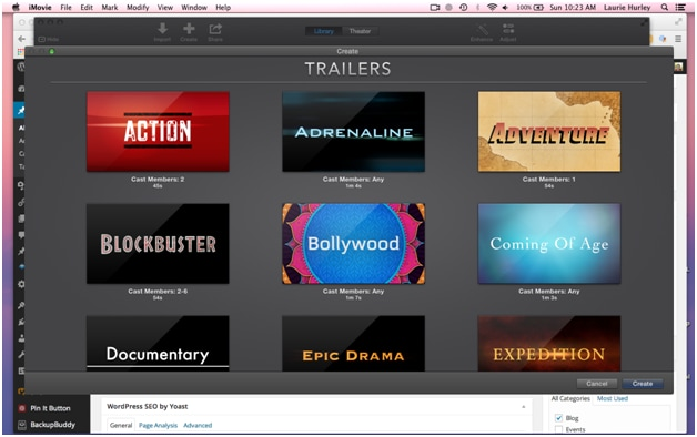 iMovie themes/templates for Mac users
