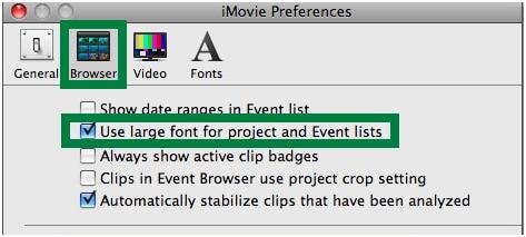 iMovie update on Mac